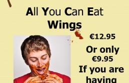 AYCE wings poster