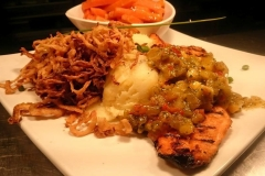 char grilled salmon